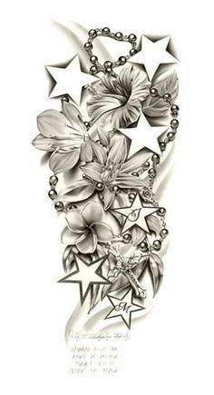 Half Sleeve Tattoo Drawings for women - Minus the rosary