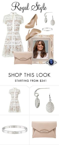 """""""Kate"""" by glamourgrammy ❤ liked on Polyvore featuring Elie Saab, Links of London, Cartier, Givenchy, royal and Kate"""