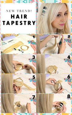 Hair tapestry is the coolest trend we've seen in a while! Would you weave your tresses? #hairstyle