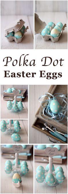 Polka Dots Easter Eggs | Easter Egg Ideas