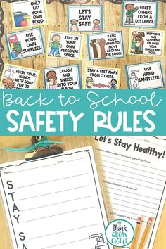 Create a healthy & safe classroom this back to school season with these social distancing classroom posters. Includes use your own supplies, wash your hands, stay six feet apart & more. Click to see the social distance rules included. Includes editable slides to make your own rules, slide show to kick off your discussion of having a safe classroom & student reflection pages. These posters come in different. Includes germ close reading and complete procedural writing unit on how to stay safe.
