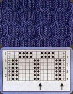 Tunisian Crochet Patterns, Knitting Stiches, Loom Knitting, Baby Knitting Patterns, Knitting Designs, Knitting Needles, Knitting Projects, Stitch Patterns, Knit Crochet