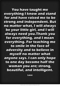 Image result for quotes for mother from daughter thank you