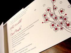 Pretty Petals Custom Color Wedding Invitation Spring Summer