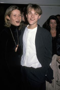 Love this picture of Leonardo DiCaprio and Gwyneth Paltrow. #LeonardoDiCaprio #YoungLeo #GwynethPaltrow
