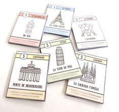 les monuments jeu de 7 familles des pays d'Europe