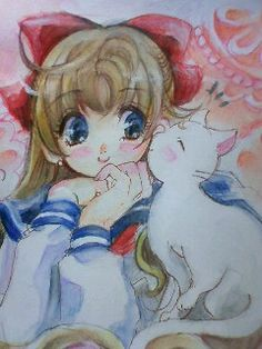 Minako and Artemis / Sailor Venus