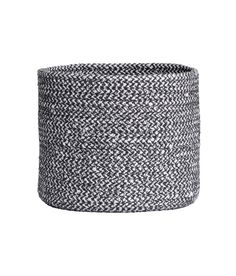 Small Cotton Storage Basket | Charcoal gray | Home | H&M US