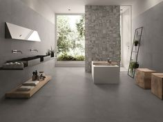 Bathroom in stone look – modern tiles www.franke-raumwe … – Exhibition novelty # guest # guest toilet room room # Source by Large Tile Bathroom, Modern Bathroom Decor, Bathroom Styling, Bathroom Grey, Imperial Tile, Room Tiles, Amazing Decor, Wall And Floor Tiles, Stone Flooring