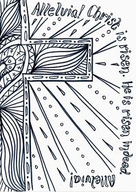 Flame: Creative Children's Ministry: Easter Day Reflective Colouring Sheet to Print