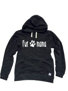 Triblend Fleece Pullover Hoody Fur Mama by BirchBearCo on Etsy