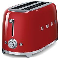 SMEG 4-Slice Red Toaster