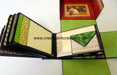 Mini Album in a Box tutorial. Lots of great pockets and pages. This little treasure made with the envelope punch board. www.creekbankcreations.com
