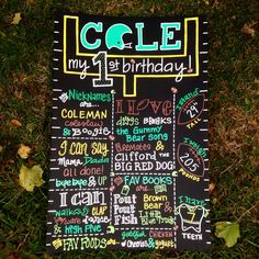 Hand Painted Football Themed Personalized Birthday Board by BeYoutifulVAriety on Etsy