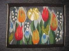 Image result for weaving flowers in tapestry