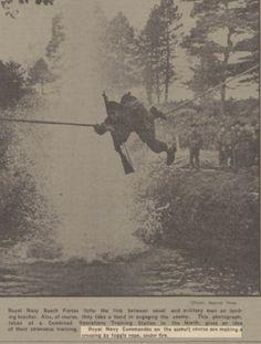 Royal Navy Commandos on assault course in Scotland