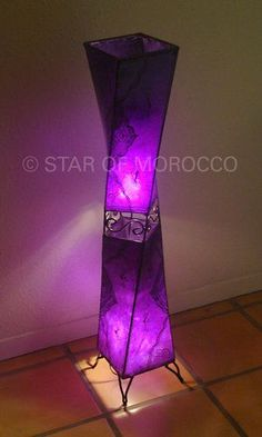 Moroccan Purple Lamp!: