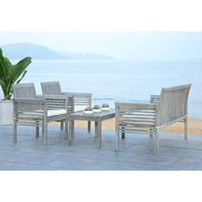 Tice 4 Piece Seating Group with Cushion
