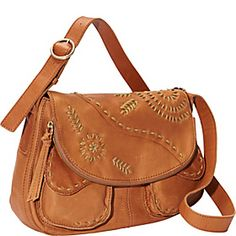 Lucky Brand Savannah Embroidery Flap  - Cognac - via eBags.com!