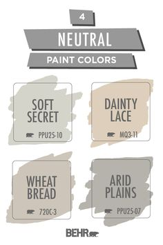 Coordinated Palette for Soft Secret Indoor Paint Colors, Behr Paint Colors, Neutral Paint Colors, Interior Paint Colors, Paint Colors For Home, Interior Design, Bathroom Paint Colors, Room Colors, Wall Colors