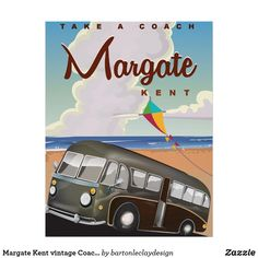 Margate Kent vintage Coach travel poster