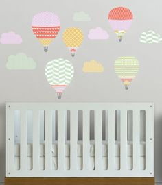 Bring a little adventure into your little one's room with these hot air balloon decals.