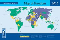 Our 'Freedom in the World' map for 2013.