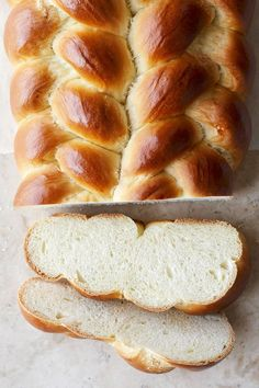 Feeding a crowd? This easy challah recipe is your answer. Our recipe makes enough fluffy slices to serve 48. #hanukkah #hanukkahrecipes #hanukkahfood #traditionalrecipes #dinner #bhg Quick Bread Recipes, Banana Bread Recipes, Side Dish Recipes, Easy Holiday Recipes, Great Recipes, Holiday Foods, Christmas Recipes, Food Dishes, Kitchens