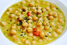 This greek chickpea soup is out of the norm, yet very easy to make, with a little tahini and the fresh tangy fragrance of oranges – four to be precise! Greek Recipes, Vegan Recipes, Cooking Recipes, The Kitchen Food Network, Food Porn, Legumes Recipe, Greek Cooking, Different Recipes, The Fresh