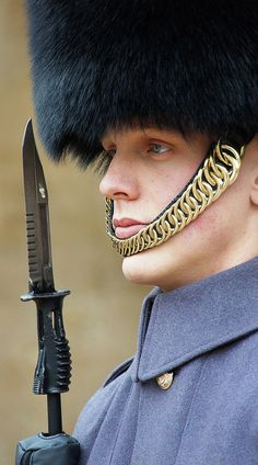 Royal Guard - Tower of London. This guy could be the biggest dork in the world but he looks all delish in his big blinged out furry hat and bayonet up by his face. Rawwwrrrr aboTRUE