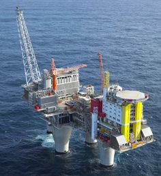 The Troll A platform is an offshore natural gas platform in the Troll gas field off the west coast of Norway. Water Well Drilling, Drilling Rig, Oil Rig Jobs, Petroleum Engineering, Oil Platform, Marine Engineering, Oil Refinery, Oil Industry, Crude Oil