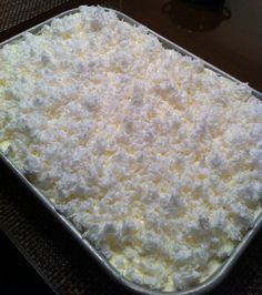 Nana's Recipe Box: Very Moist Coconut Sheet Cake 1 Duncan Hines White Cake mix 3 eggs 1 cup milk cup vegetable oil 1 small box vanilla (or almond) pudding (I used vanilla) 1 teaspoon vanilla (or almond) extract (I used vanilla) 13 Desserts, Dessert Recipes, Coconut Sheet Cakes, Def Not, Sheet Cake Recipes, White Cake Mixes, Yummy Cakes, Cupcake Cakes, The Best