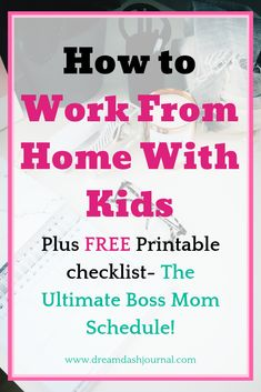 Balancing being an at-home-mom and working from home can be tricky, but it is possible. In this article, I'll share my tips on how to work from home with kids without going insane, (most of the time!) You can be productive working from home with children and keep everyone else, including yourself, happy and taken care of. Read on to learn how!