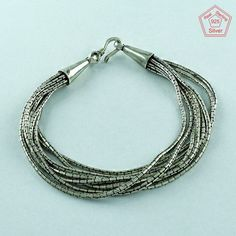 MULTI CHAIN DESIGN 925 STERLING SILVER BRACELET'S BR3368…