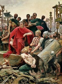 "last-of-the-romans: "" Detail of Caesar from Vercingetorix by Lionel-Noel Royer. """