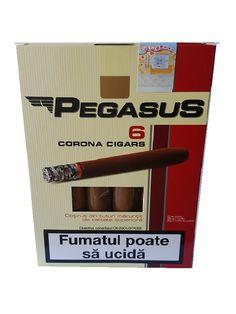 Tigari de foi 55 gr Pegasus obtinute din tutun maruntit Pachetul contine 6 tigari de foi din tutun maruntit de calitate superioara – greutate neta 55 gr. Acest produs se adreseaza exclusiv persoanelor peste 18 ani ! Fumatul dauneaza grav sanatatii tale si a celor din jur. Directiva consiliului CE 2001/37/CEE Pegasus, Convenience Store, Corona, Convinience Store