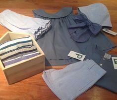 Look para este fin de semana con el nuevo blusón Anea 💕. El azul vintage está de moda 💫 #pepitobychus #barcelona #kidswear #modainfantil #kids  #style