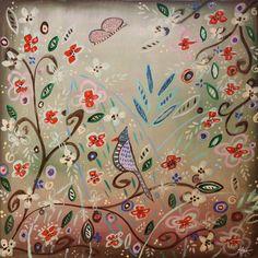 """Wedding Garden"" by Kristen Stein.  Make your walls blossom with stunning prints from www.imagekind.com!"
