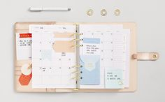 Be inspired to get organised with these planner decorating ideas using the Rose Gold kikki.K Personal Planner