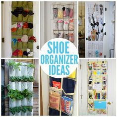 Use a shoe organizer for more than just shoes. Cheap ways to get your home organized!