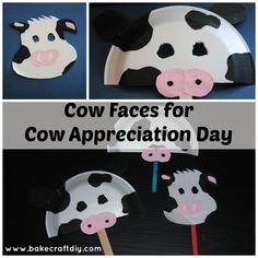 Bake Craft & DIY: Cow Masks for Cow Appreciation Day