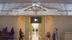 In the neoclassical lobby of a Chicago office building, ESI Design created a media experience that amplifies the architecture. Lively projections appear on the upper…