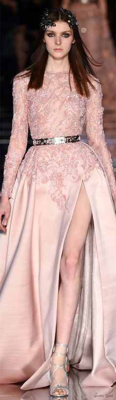 6fe0c059a3 Zuhair Murad Spring 2016 Couture Vestido De Applique