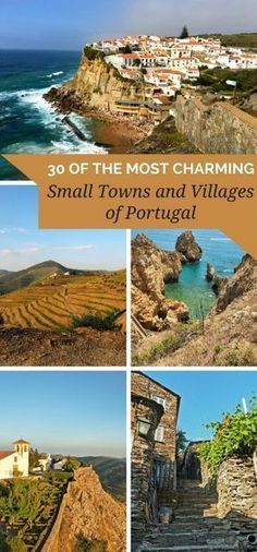 Read the article to find out about 30 of the Most Charming Small Towns and Villages of Portugal. They're beautiful, calm, serene. The perfect trip addition. The Most Charming Small Towns And Villages Of Portugal Portugal Vacation, Portugal Travel Guide, Europe Travel Guide, Backpacking Europe, Italy Vacation, Spain Travel, Portugal Trip, Sintra Portugal, Cool Places To Visit