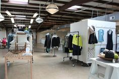 The retail space at Alabama Chanin