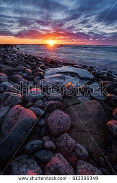 Stony shore. Baltic sea. Gulf of Finland, Estonia. Shutterstock contributor.