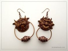 One of them always tells the truth, and one of them always lies! Very cool Labyrinth earrings!