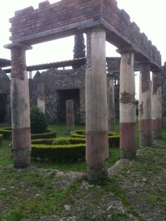 *POMPEII, ITALY  Meals would've been eaten in a more intact version of this kind of Roman structure on a nice sunny day.