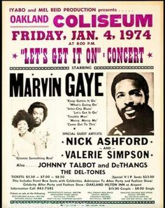 Poster of Motown Concert.