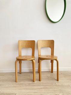 Mid Century Pair of Alvar Aalto Model 66 Chairs for Artek – Home Union NYC Modern Architecture House, Futuristic Architecture, Chinese Architecture, Modern Houses, Modern Furniture, Furniture Design, Alvar Aalto, New Room, Scandinavian Design